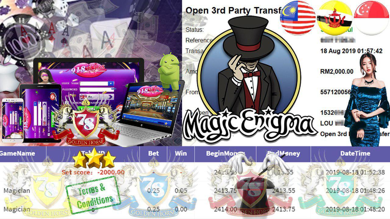 918KISS CUSTOMER MAIN MAGICIAN MINTA CUCI RM2000!!