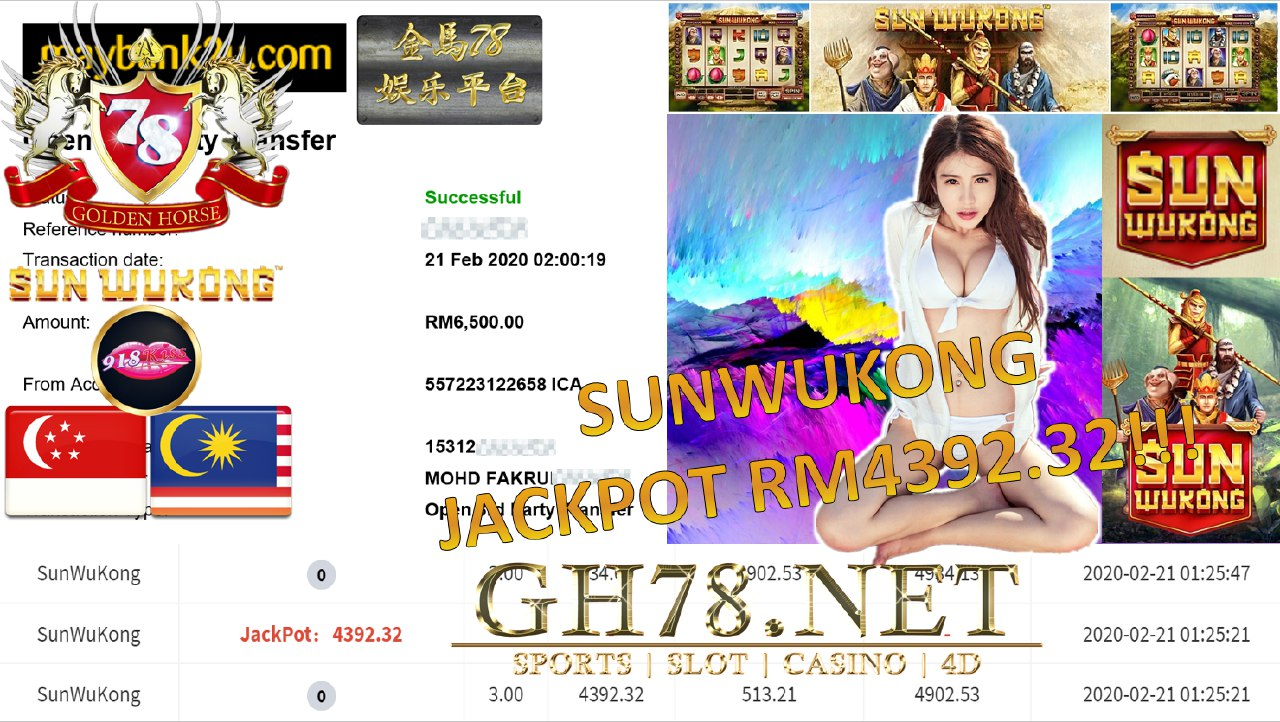 2020 NEW YEAR !!! MEMBER MAIN 918KISS, SUN WUKONG , WITHDRAW RM6500!!