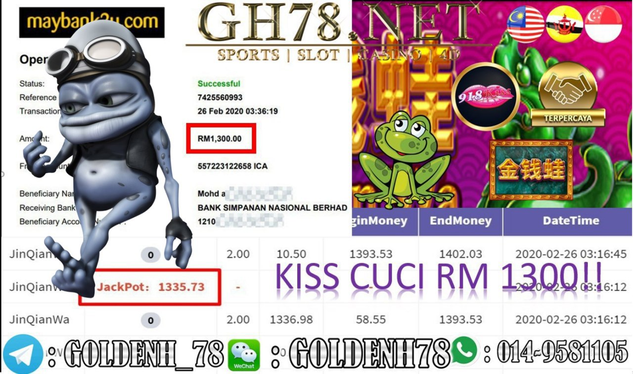 2020 NEW YEAR !!! MEMBER MAIN 918KISS, JINQIANWA , WITHDRAW RM1300!!