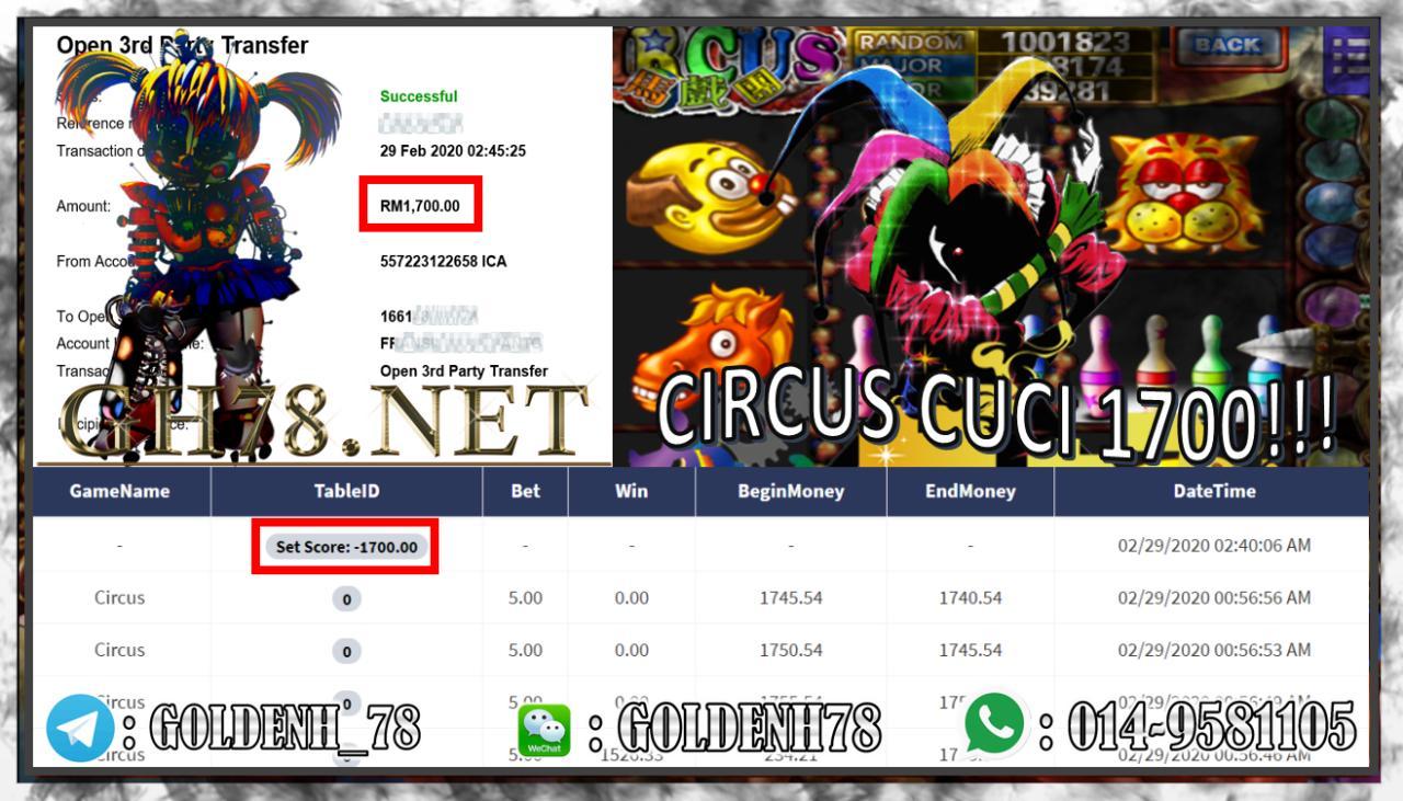 MAIN CIRCUS MENANG RM1700!!
