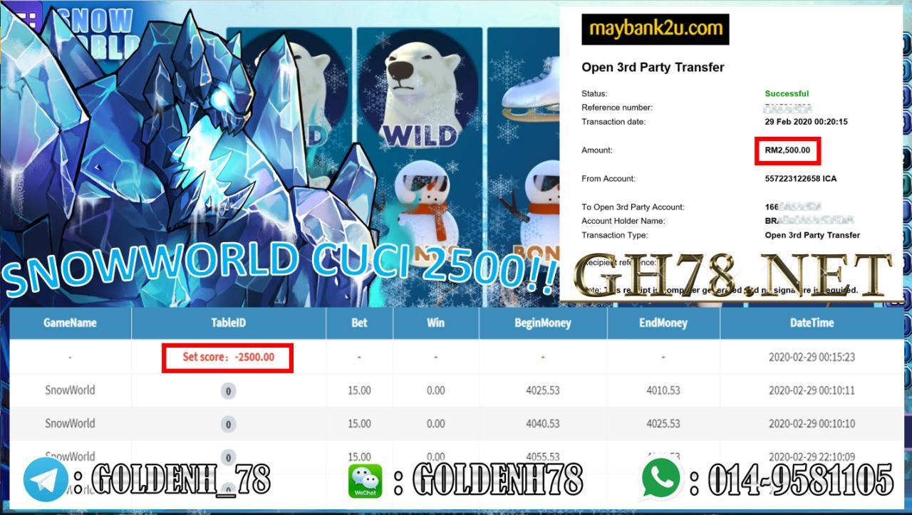 MAIN SNOW WORLD RM2500 !!
