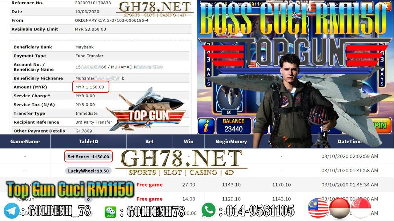 MEMBER MAIN XE88 GAME TOP GUN MINTA OUT RM1150!!!!