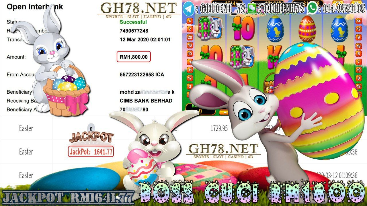 MEMBER MAIN 918KISS GAME EASTER MINTA OUT RM1800!!!