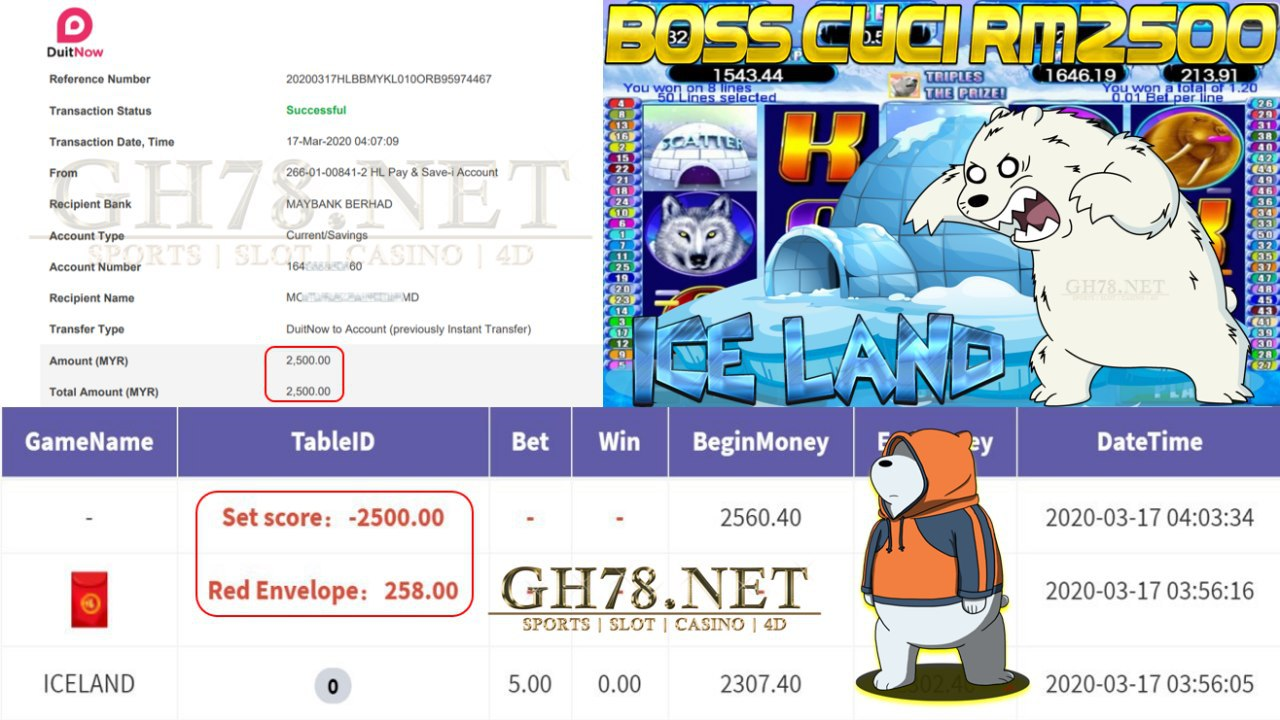 MEMBER MAIN 918KISS GAME ICELAND MINTA OUT RM2500!!!!