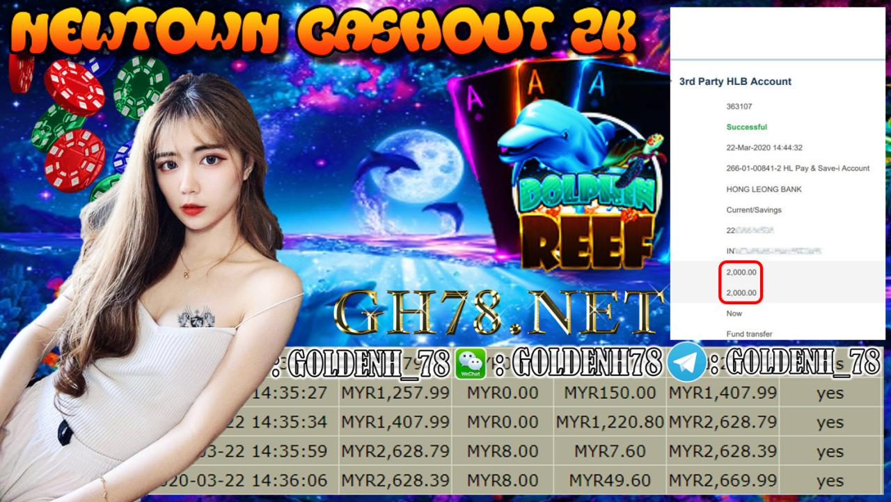 MEMBER MAIN NEWTOWN GAME DOLPHIN REEF MINTA OUT RM2000!!!!