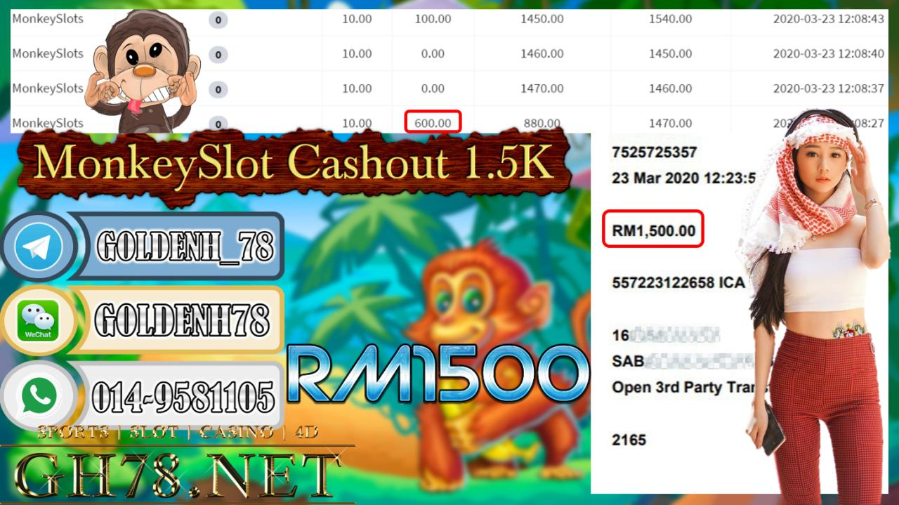 MEMBER MAIN 918KISS GAME MONKEYSLOTS MINTA OUT RM1500!!!!
