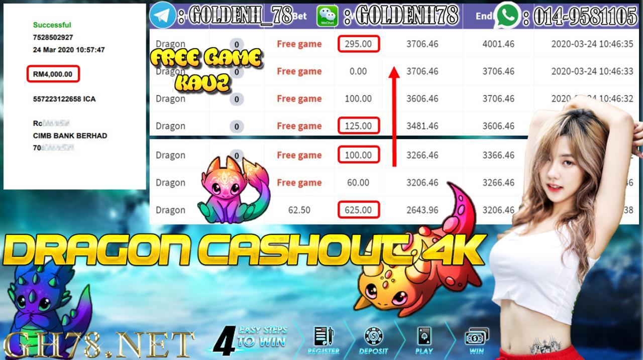 MEMBER MAIN 918KISS GAME DRAGON MINTA OUT RM4000 !!