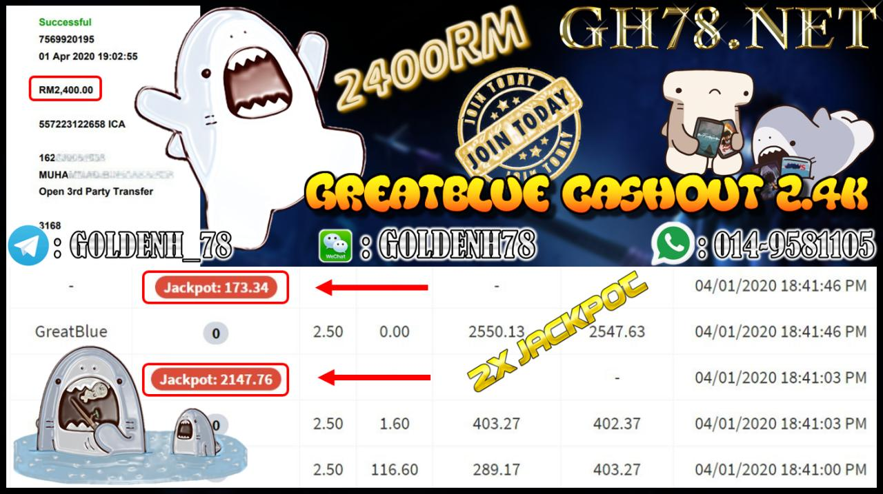 MEMBER MAIN XE88 GAME GREATBLUE MINTA OUT RM2400!!!