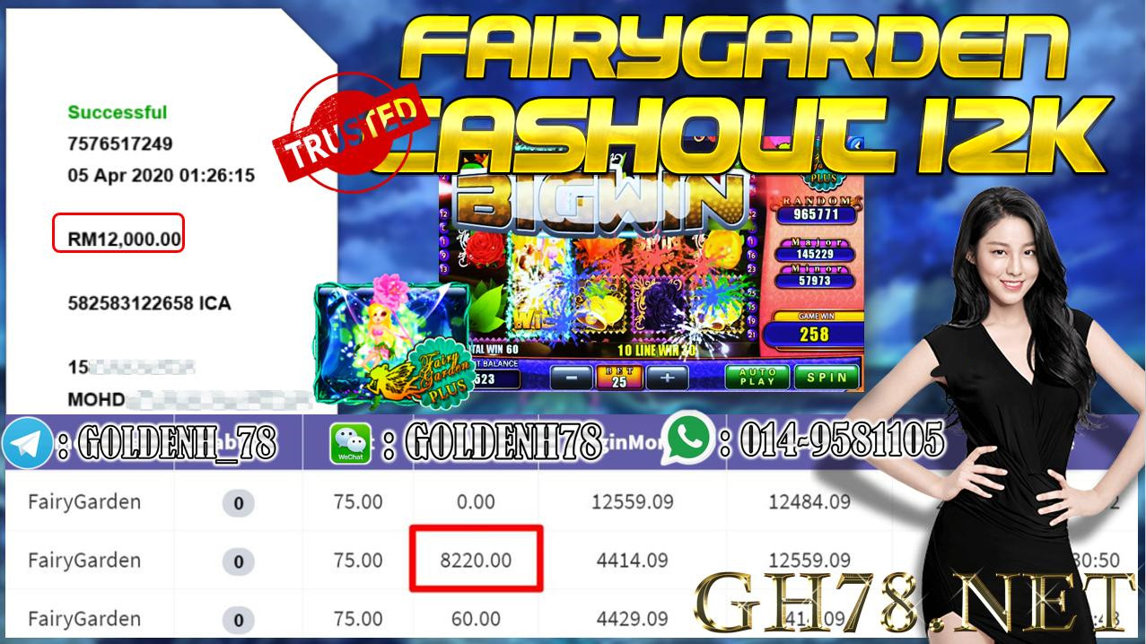 MEMBER MAIN 918KISS GAME FAIRYGARDEN MINTA OUT RM12000!!!