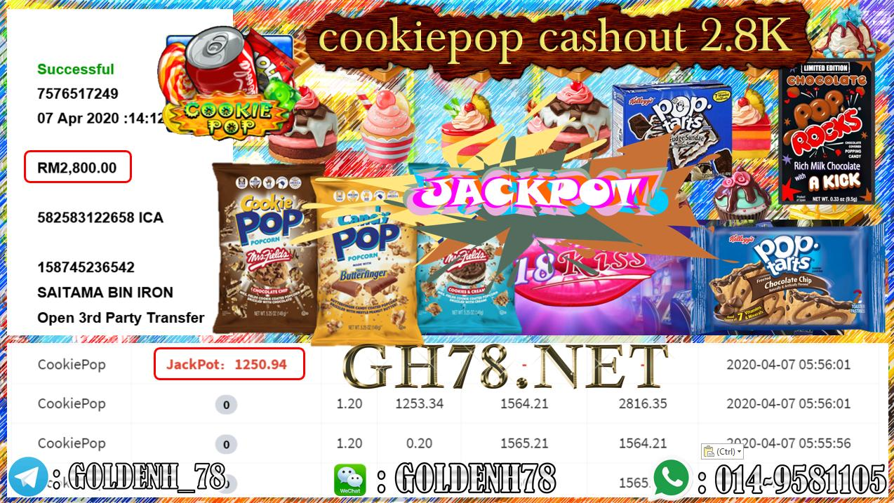 MEMBER MAIN 918KISS GAME COOKIEPOP MINTA OUT RM2800!!!!