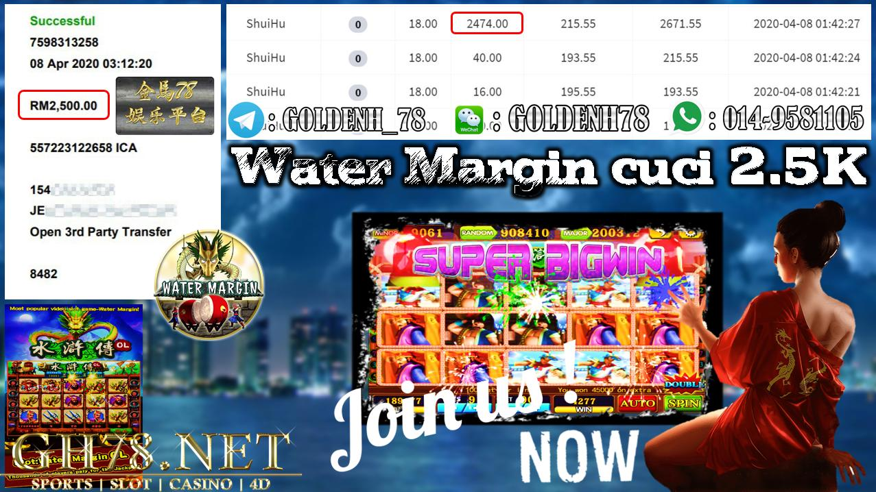 MEMBER MAIN 918KISS GAME WATER MARGIN MINTA OUT RM2500!!!!