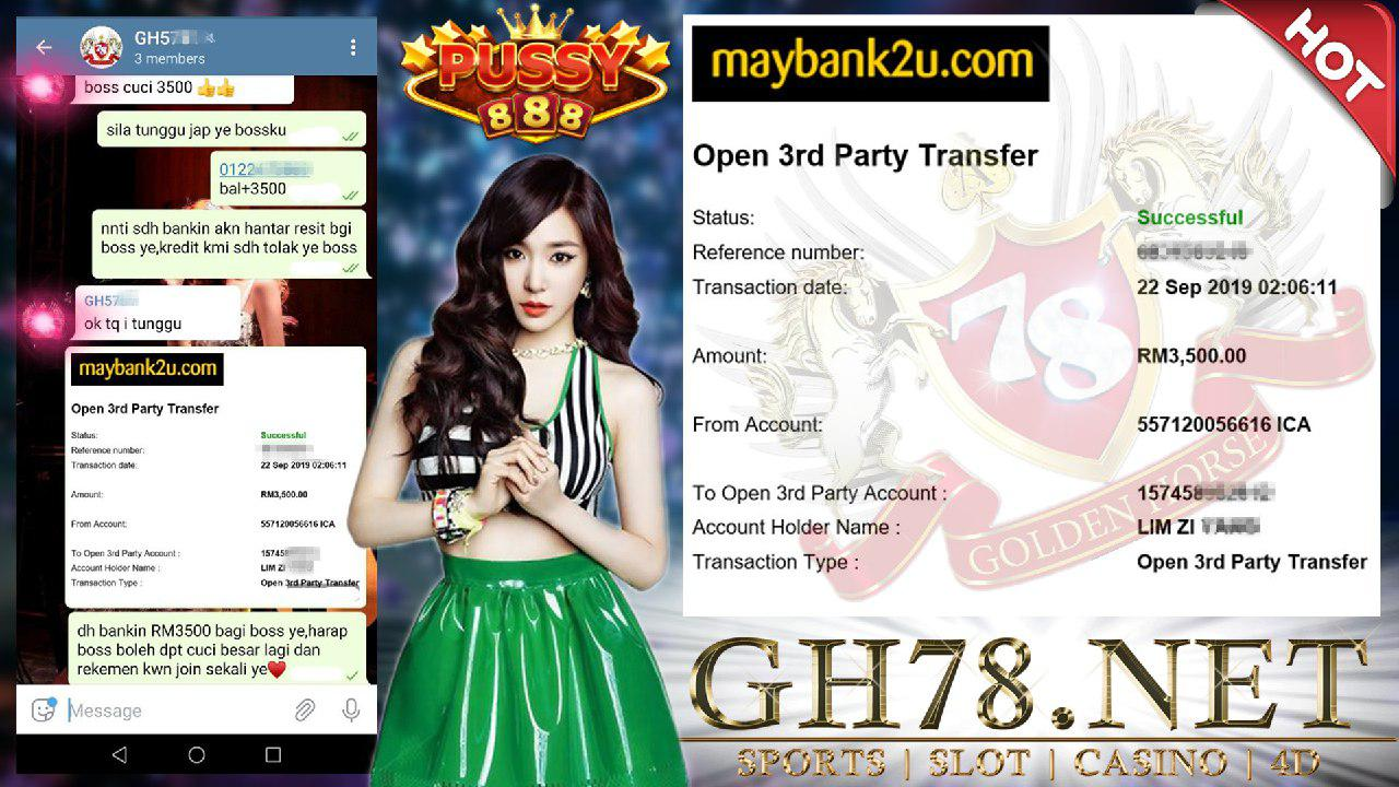MEMBER MAIN PUSSY888 REQUEST WITHDRAWAL RM3500 !!