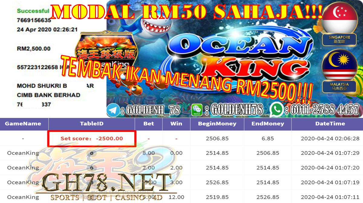 2020 NEW YEAR !!! MEMBER MAIN 918KISS, OCEAN KING , WITHDRAW RM2500 !!!