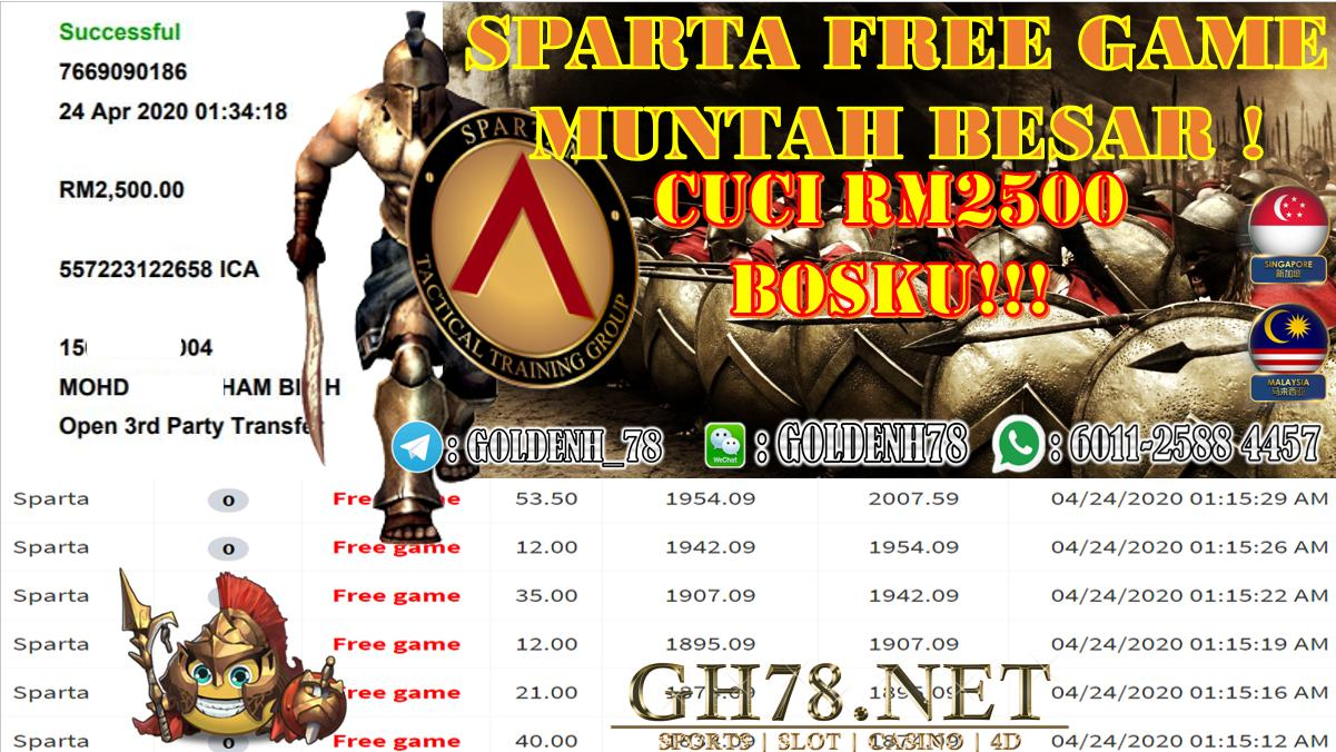 2020 NEW YEAR !!! MEMBER MAIN XE88, SPARTA , WITHDRAW RM2500 !!!