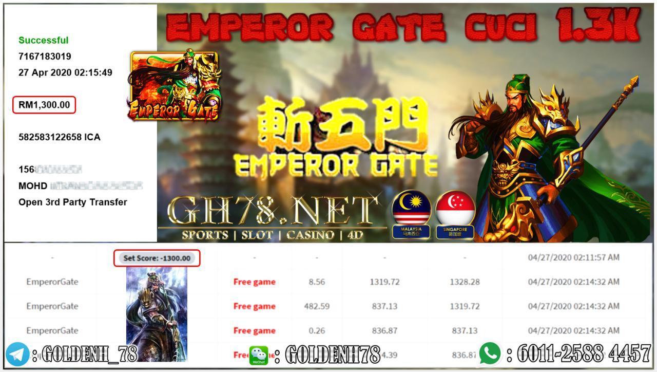 MEMBER MAIN EMPEROR GATE MENANG RM1300