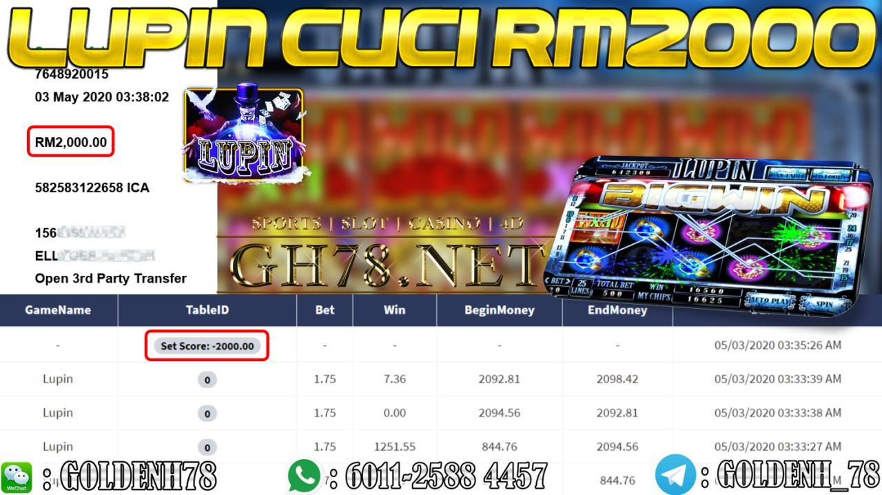 MEMBER MAIN LUPIN CUCI RM2000