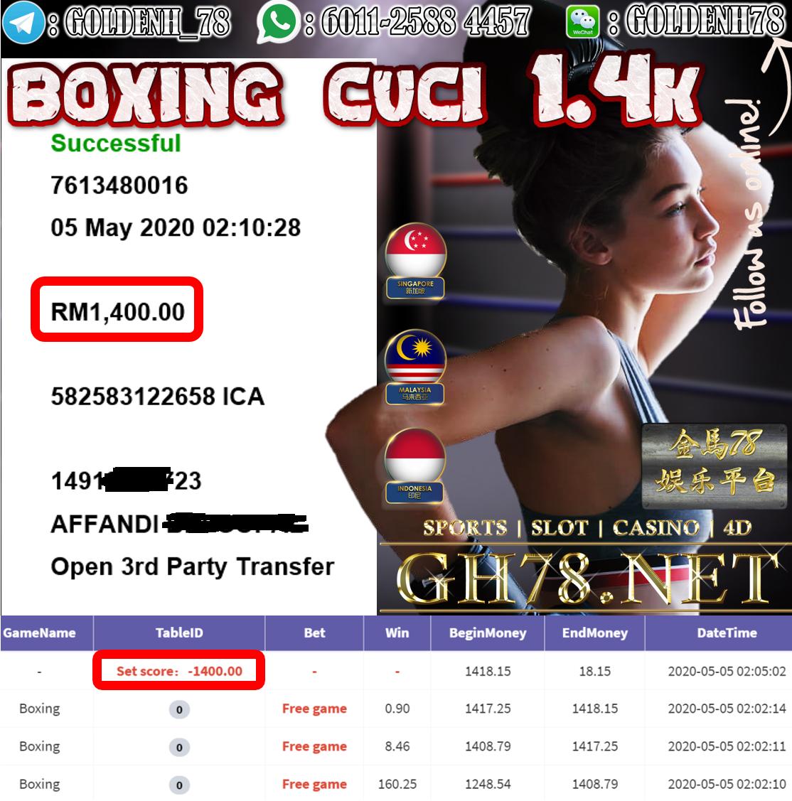 MEMBER MAIN BOXING CUCI RM1400
