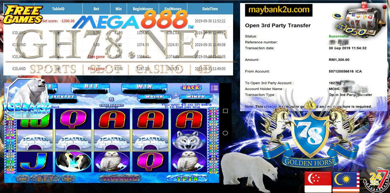 MEMBER MAIN MEGA888 CUCI RM1300 ~~