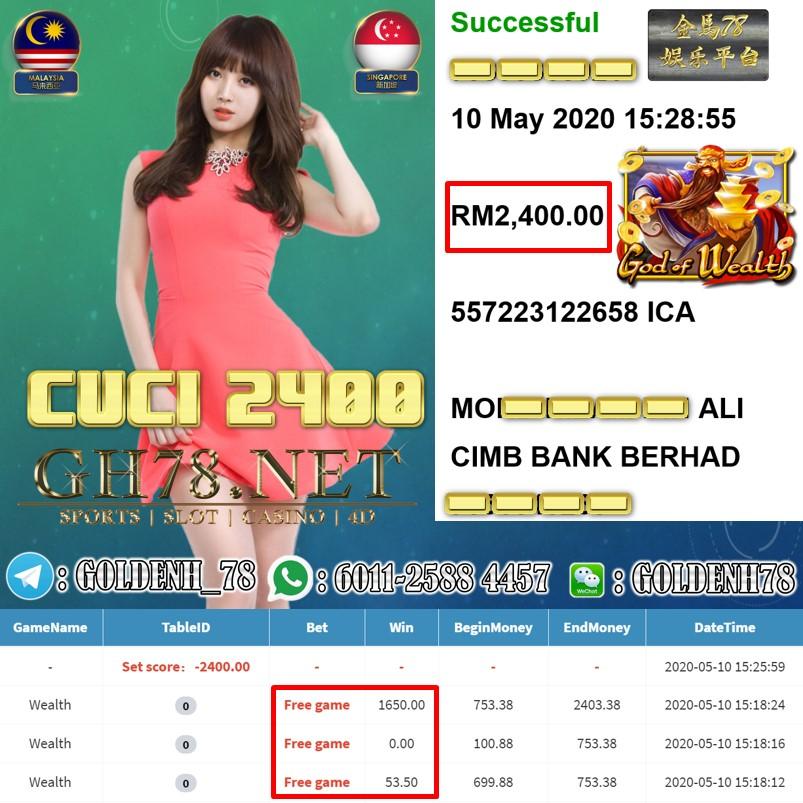 MEMBER MAIN GOD OF WEALTH MENANG RM2400