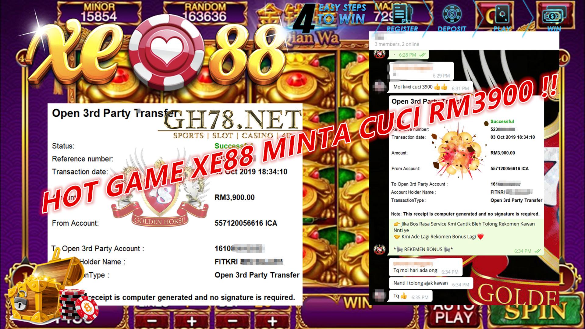 XE88 MINTA CUCI LAGI RM3900 !!