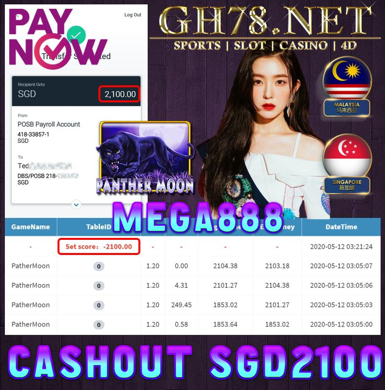MEMBER PLAY PANTHERMOON CASHOUT SGD2100 !!!