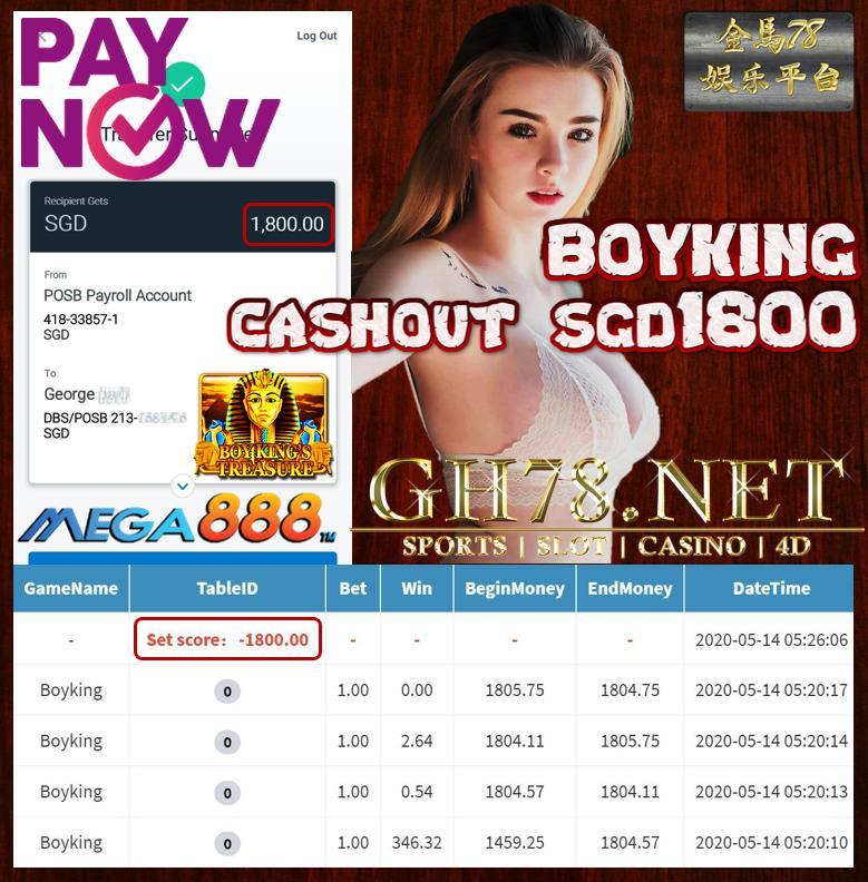 MEMBER PLAY BOYKING CASHOUT SGS1800!!