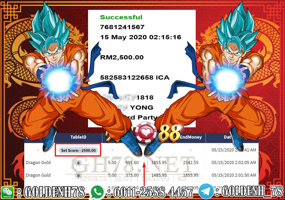 2020 NEW YEAR !!! MEMBER MAIN XE88, DRAGON GOLD , WITHDRAW RM2500 !!!