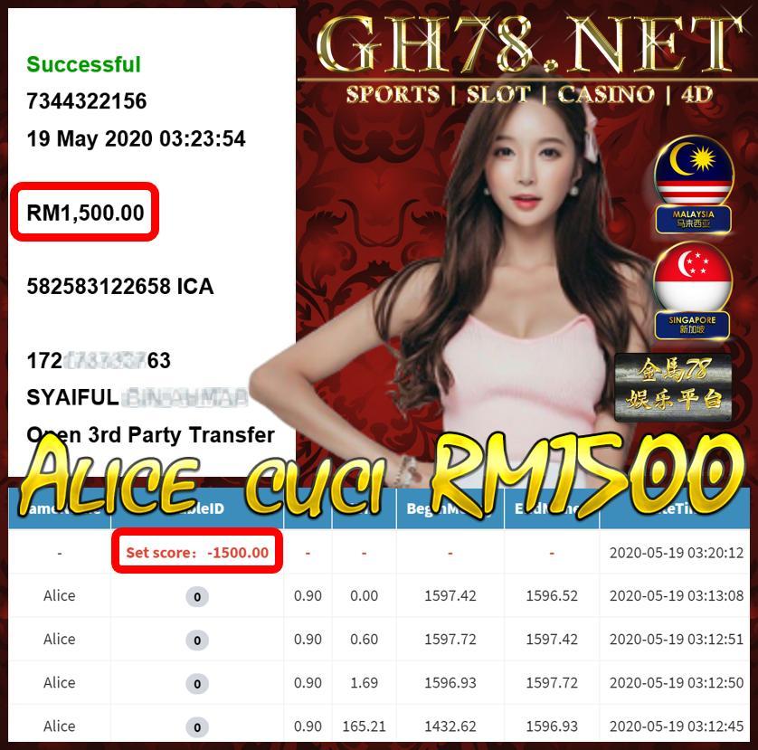 MEMBER MAIN ALICE CUCI RM1500 !!