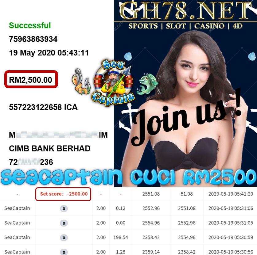 MMBER MAIN SEACAPTAIN CUCI RM2500