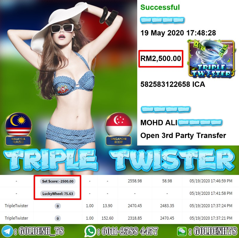 MEMBER MAIN TRIPLE TWISTE CUCI RM2500