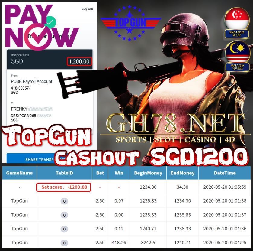MEMBER IN SGD30 CASHOUT SGD1200