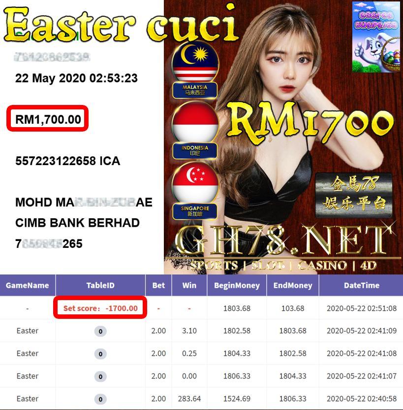 MEMBER MAIN EASTER CUCI RM1700