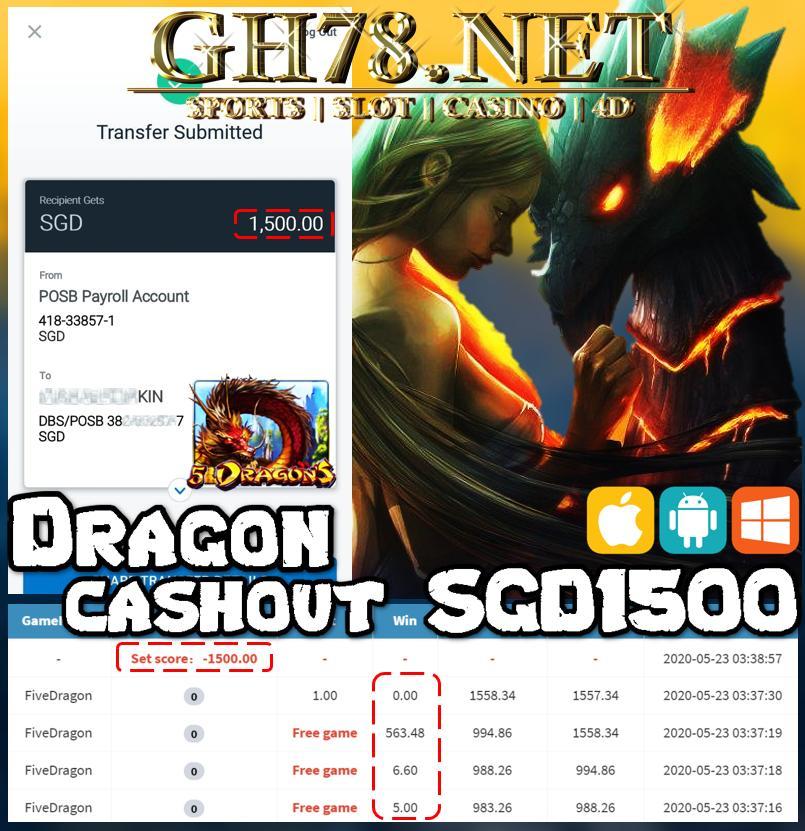 MMBER PLAY DRAGON CASHOUT RM1500