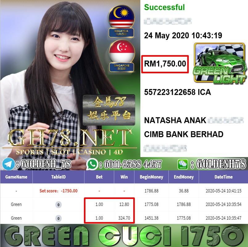MEMBER MAIN GREEN CUCI RM1750