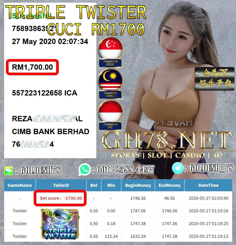 MEMBER MAIN TRIPLE TWISTER CUCI RM1700