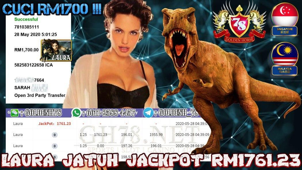 MEMBER MAIN LAURA JACKPOT CUCI RM1700 !!!