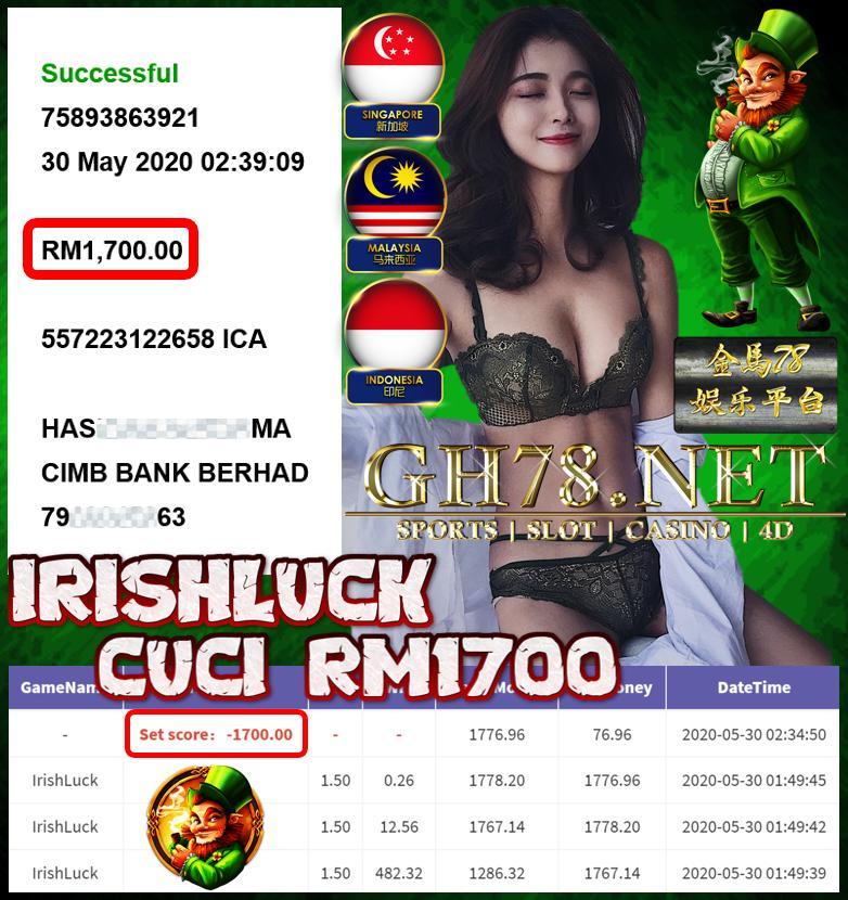 MEMBER MAIN IRISHLUCK CUCI RM 1700 !!!