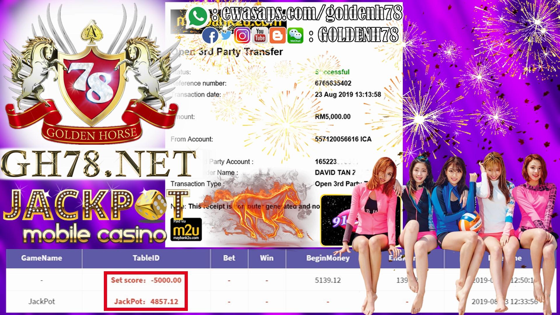 MEMBER MAIN 918KISS DAPAT JACKPOT OUT RM5,000