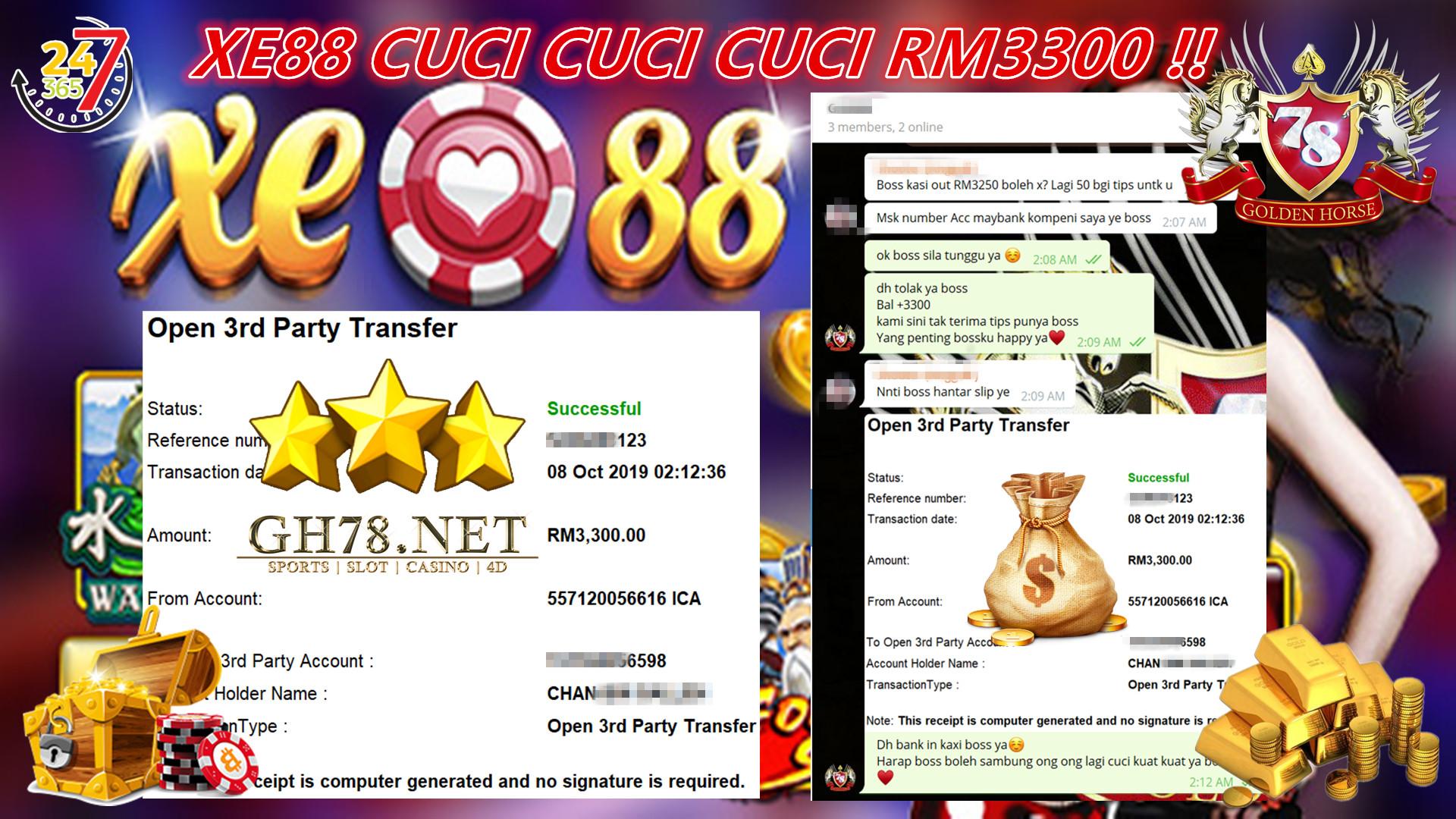 HARI INI XE88 LAGI CUCI RM3300 !!