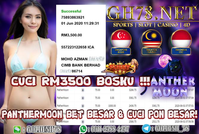 MEMBER MAIN GAME PANTHERMOON MINTA CUCI RM3500 !!!