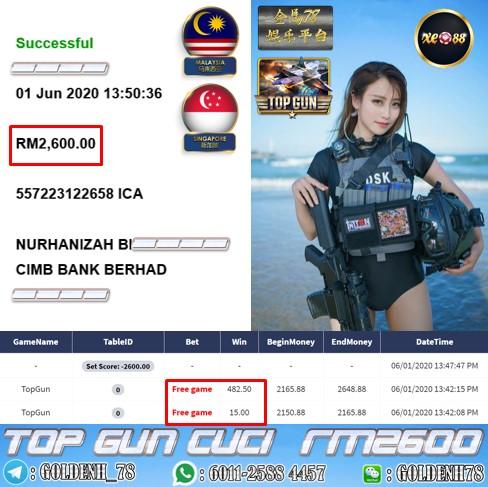 XE88 , TOP GUN MUNTAH BESAR HARINI ... CUCI RM2600 !