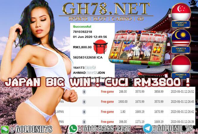 918KISS , JAPAN MELETOP BESAR BOSKU , CUCI RM3800 !!!