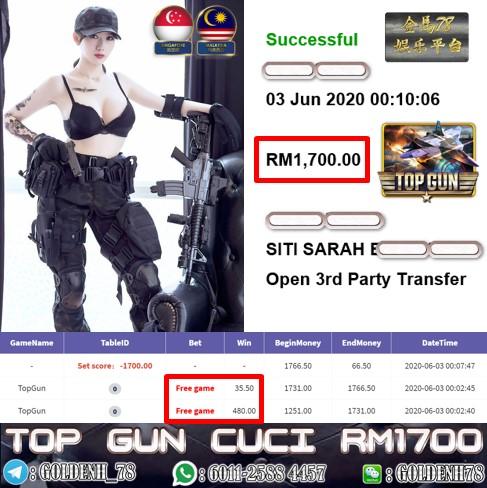 918KISS CUSTOMER MAIN TOPGUN MINTA CUCI RM1700!!