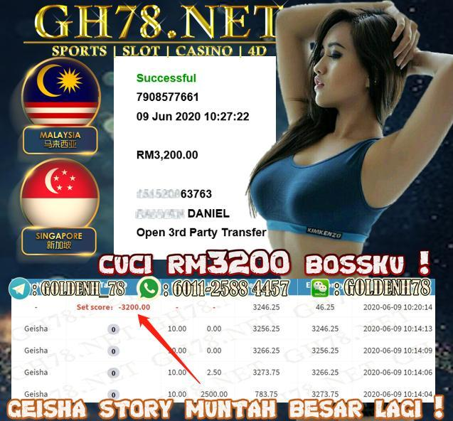 MEMBER MAIN GEISHA CUCI RM3200