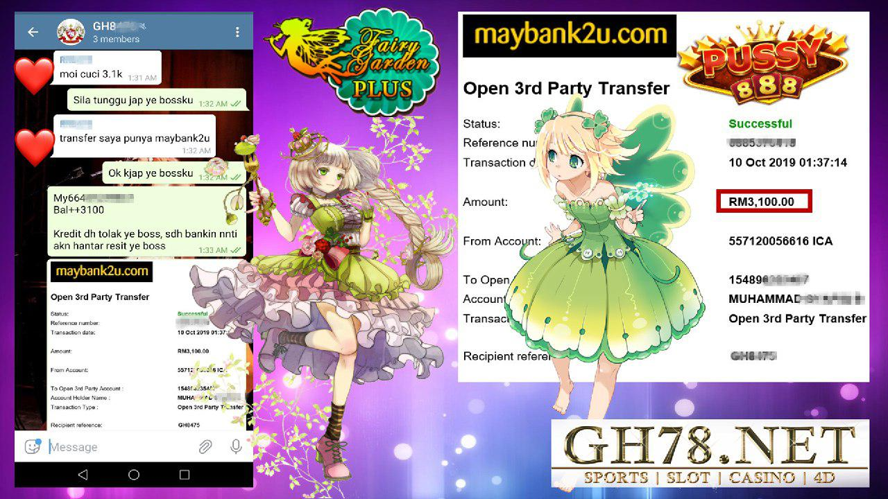 PUSSY888 CUCI RM1300 !! ONG ONG ONG !
