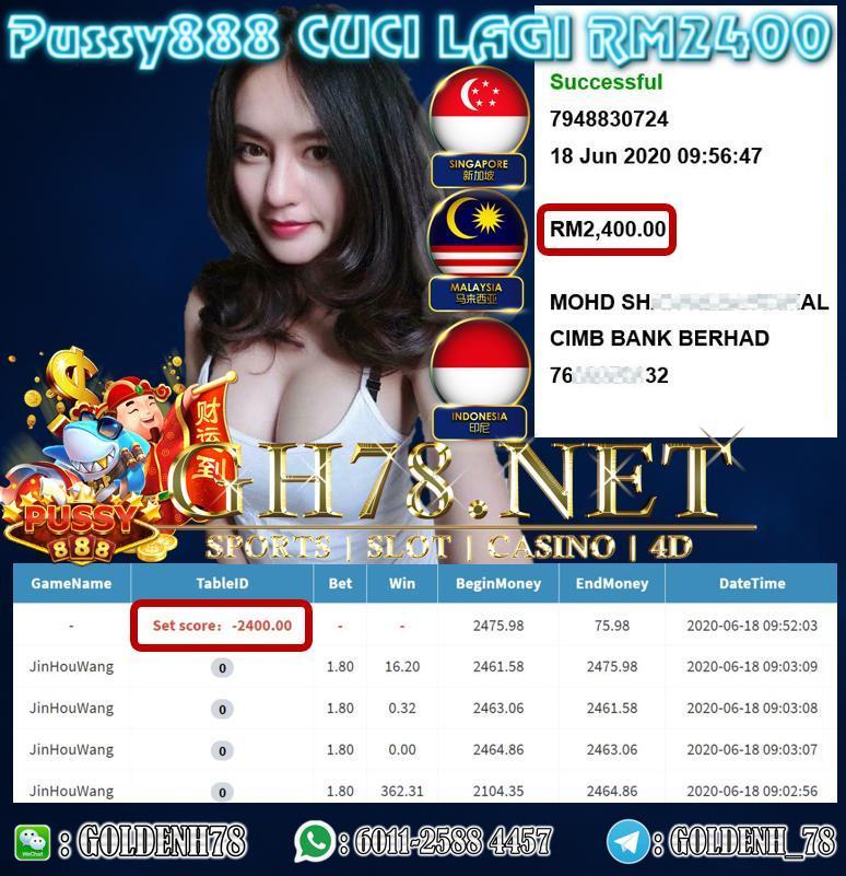 MEMBER MAIN PUSSY88 CUCI LAGI RM2400