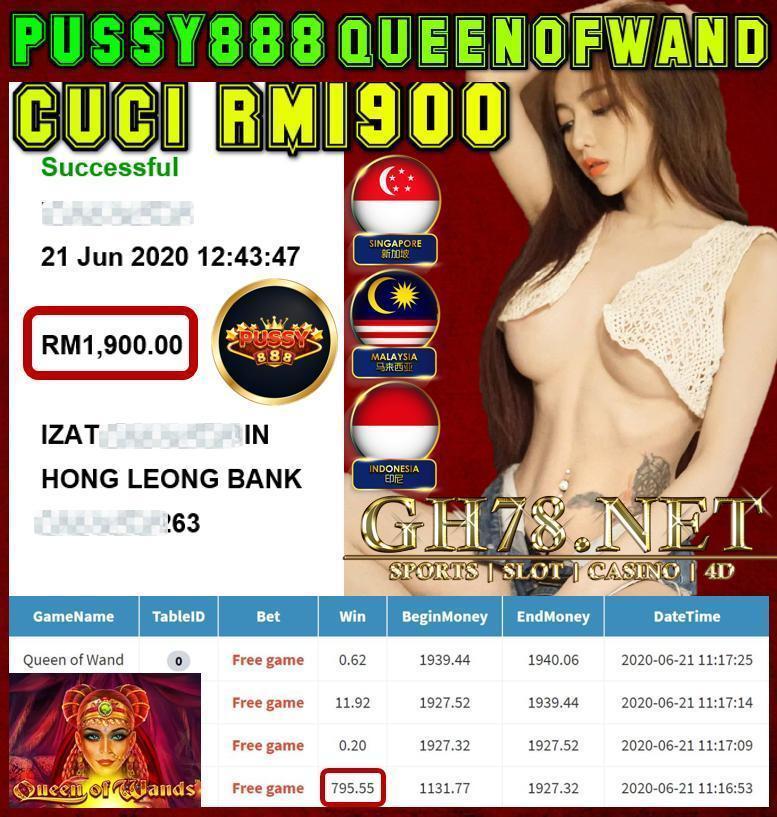 PUSSY888 CUCI LAGI RM1900