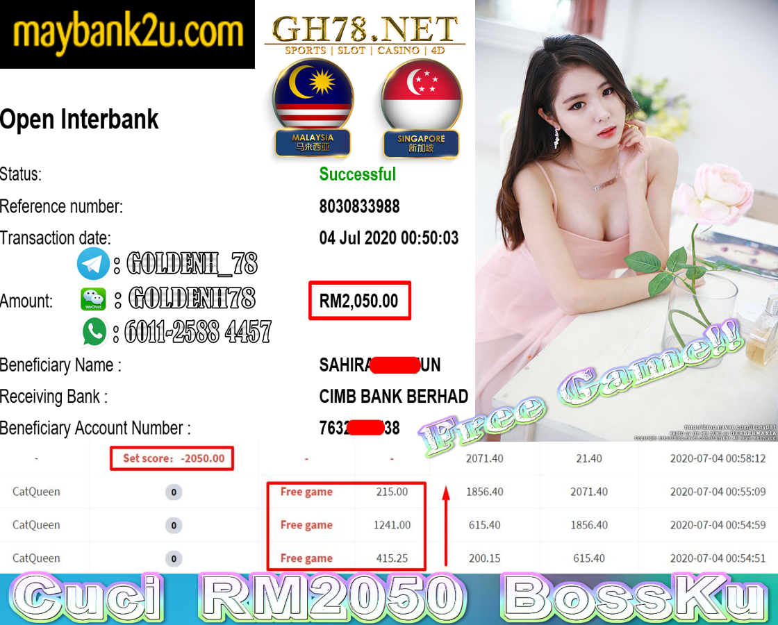 MEGA888 CATQUEEN CUCI RM2050