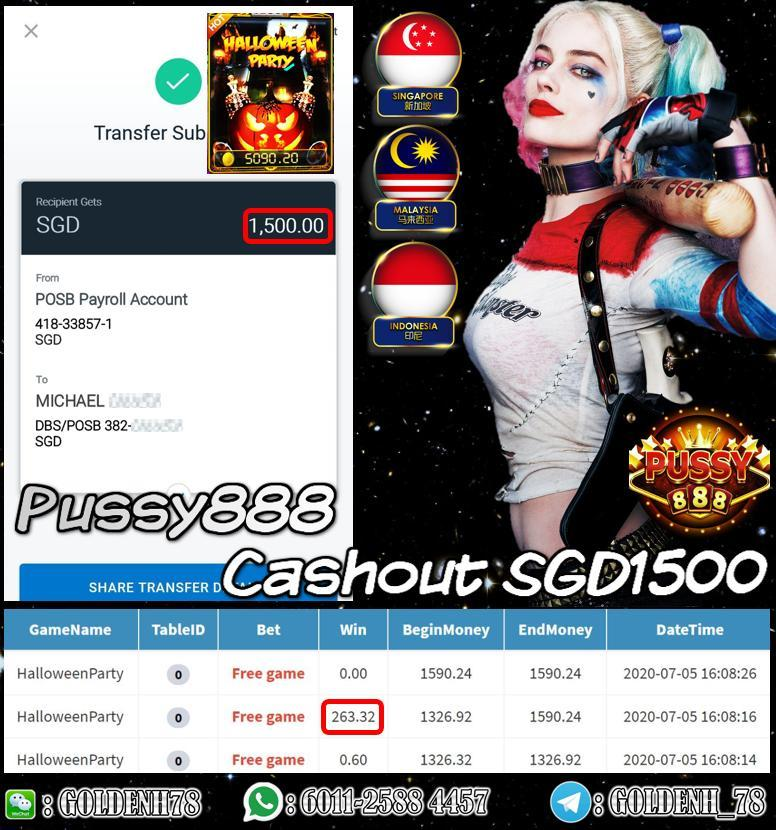 MEMBER PLAY HALLOWEEN CASHOUT SGD1500