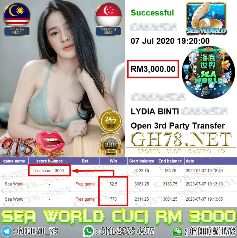 FREE GAME KAW KAW SEAWORLD 918KAYA CUCI RM3000